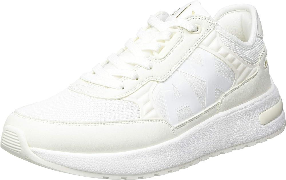 armani exchange dusseldorf scarpe sneakers da duomo in pelle e tela xux090a