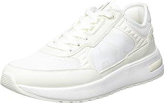 Armani Exchange Men's Dusseldorf Volume Sole Running Sneaker, Off White, 6 UK
