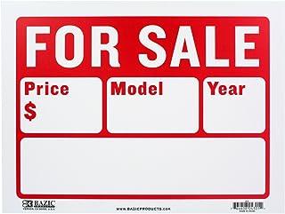 """علامة BAZIC 9"""" X 12"""" للبيع للسيارات والسيارات (خطين) (S-2)"""