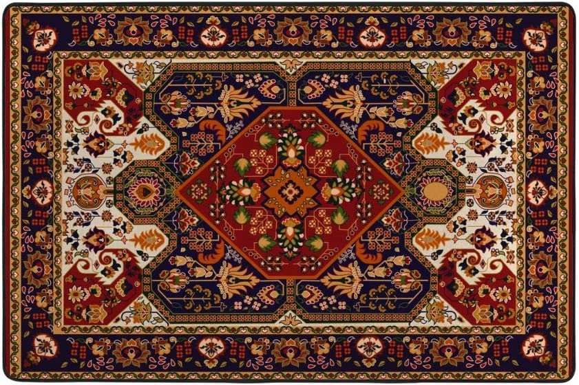 Kuizee Area Max 71% OFF Rug Large Persian Seattle Mall Tribal Style Texture Re Ethnic
