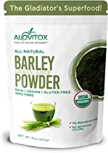 Alovitox Organic Barley Grass Juice Powder 8 Oz, Antioxidant and Immune Boosting, detoxifies and nourishes, All Natural, G...