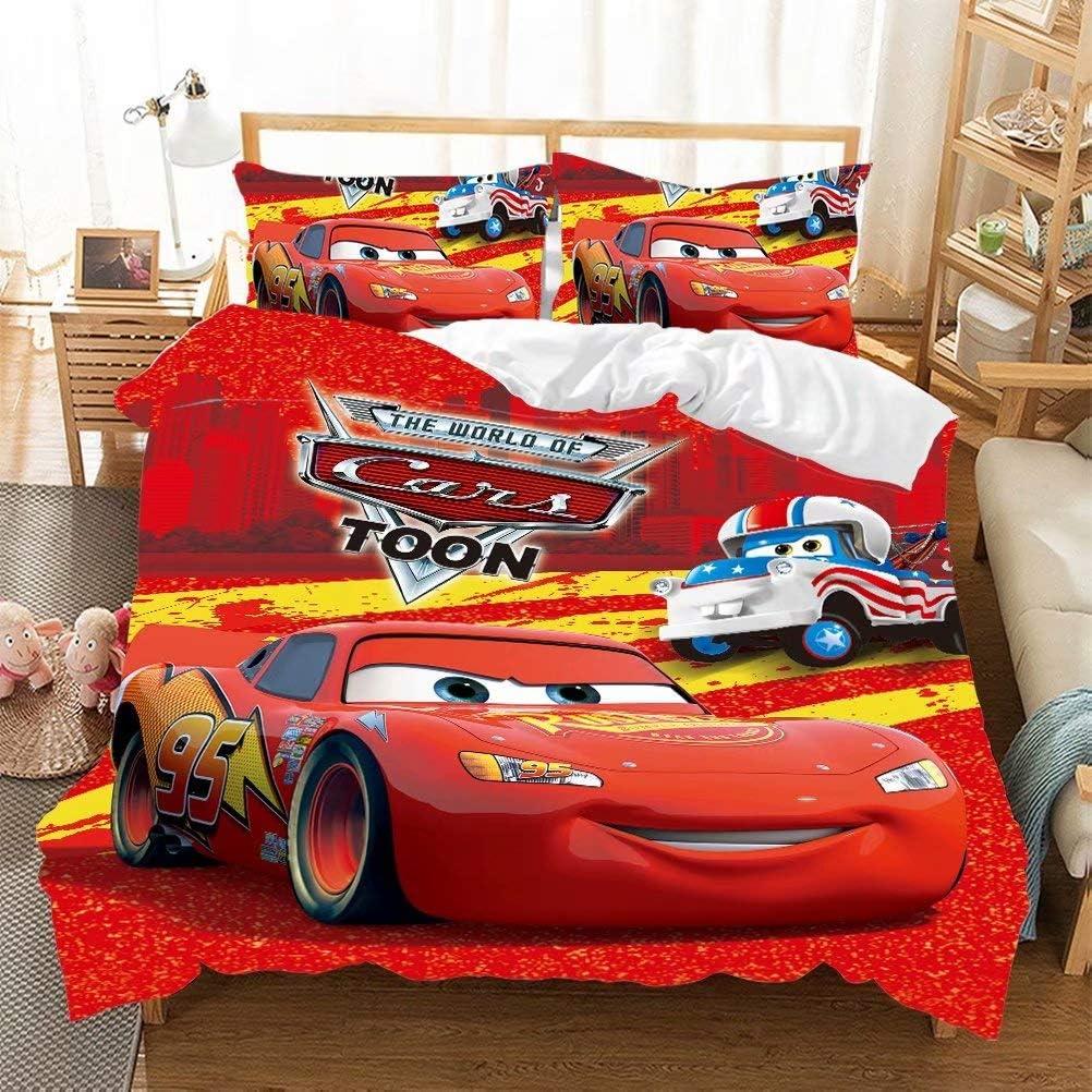 Supstar 上品 Kids Lightning McQueen Duvet With Bedding Sets 捧呈 Bed Cover