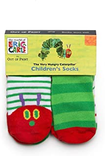 Out of Print World of Eric Carle, The Very Hungry Caterpillar Unisex Socks 4-Pack 2T-3T