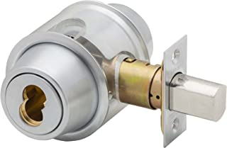 Schlage B562BD 626 (SFIC) Series B500 Grade 2 Deadbolt Lock, Double Cylinder Function, Small Format Interchangeable Core, Satin Chrome Finish
