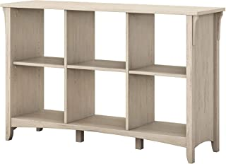 Bush Furniture Salinas 6 Cube Organizer in Antique White