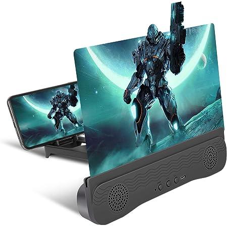 DOHAPPYS Lupa de Pantalla Adecuada para Ver Videos de pel/ículas en Todos los tel/éfonos Inteligentes Pantalla de 12 Screen Mobile Phone