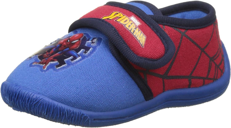 Chaussons Bas Gar/çon Spiderman Boys Kids Velcro Low Houseshoes