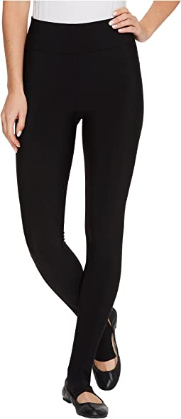 Matte Spandex Stirrup Leggings with Hidden Pocket