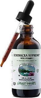 Maxi Health Organic Echinacea Supreme with Vitamin C - Immune Booster - 2 Ounce Bottle
