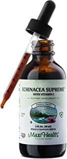Maxi Health Organic Echinacea Supreme with Vitamin C - Immune Booster - 2 Ounce Bottle - Kosher