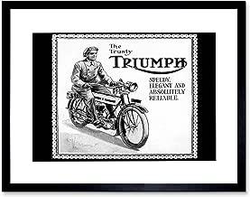 Triumph Motorcycle Vintage UK Vintage Advertising Retro Art Art Print F12X1563
