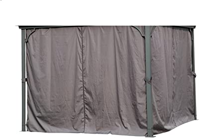 Angel Living 3 x 3 m Aluminio Patio Gazebo Toldo Marquee Carpa Hardtop Techo Jardín Refugio (Paredes Laterales para Gazebo): Amazon.es: Jardín
