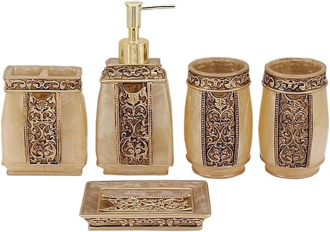 Yimidear 20 teilig Badezimmer Set Seifenspender Zahnbürstenhalter ...