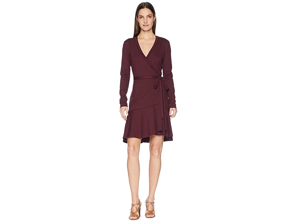 Nicole Miller Wrap Dress (Merlot) Women