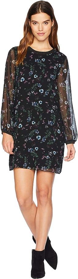 Winter Night Floral Dress KSNK8390