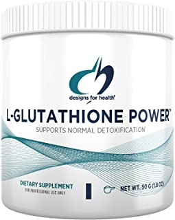Designs for Health L-Glutathione Powder 1000mg - Reduced L-Glutathione Supplement to Support Normal Detoxification - Immun...