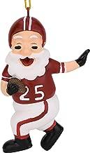 Tree Buddees Touchdown Santa Christmas Sports Football Ornament (Dark Red & White)