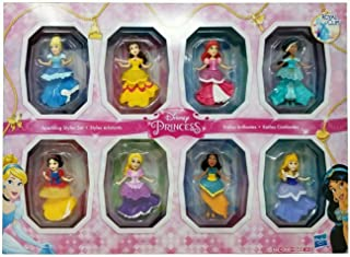 Best Disney Princesses Sparkling Styles Small Doll Set of 8 Featuring Royal Clips Review
