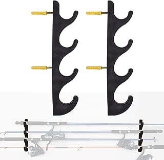YYST Horizontal Fishing Rod Storage Rack Holder Wall Mount - Hold 4 Fishing Rods W Screws - No Fishing Rod
