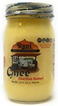 Rani Pure Natural Ghee from Grass Fed Cows (Clarified Butter) 1lb (16oz) ~ Glass Jar | Paleo Friendly | Keto Friendly | Gluten Free