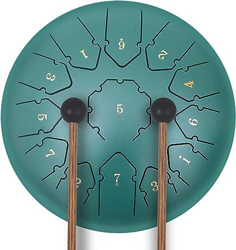 KUDOUT Tambour à Main-Tongue Drums à 12 Pouces 13 Tons Handpan Instrument de Percussion à Tambour Pan idéal pour la m...