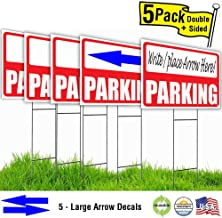 Parking Lawn Sign Kit with Giant Arrow Stickers (5)