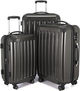 HAUPTSTADTKOFFER - Alex - Set de 3 pièces (55 cm, 65 cm, 75 cm), Valises rigides extensibles, Trolleys, TSA, 4 rudeas, Graphite