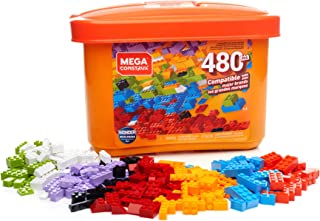 Mega Construx Open-Ended Play Brick Box for Ages 4+ (Building Toys for Creative Play - 480 Pieces)