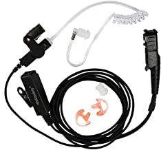 abcGoodefg 2-Wire Two-Way Radio Surveillance Earpiece Kit for Motorola with one Pair Earmold Earbud Xpr3300 Xpr3500 XIR P6...