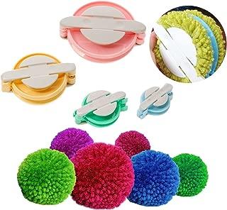 Dometool Pompom Maker for Fluff Ball DIY Weaver Needle Wool Knitting Craft Tool Set 4 Size