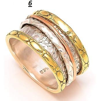 JewelsExporter Handmade Spinner Ring//Statement Ring//Meditation Ring 4.5US