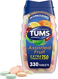TUMS Extra Strength Antacid Tablets for Chewable Heartburn Relief and Acid Indigestion Relief, Assorted Fruit Flavors - 33...