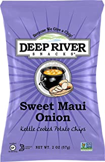 Deep River Snacks Kettle Chips, Sweet Maui Onion, 24 Count