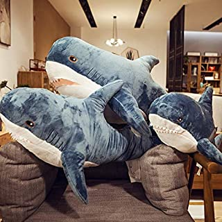 liujiu Net Red Shark Pillow Big White Shark Super IKEA Plush Toy Doll Doll Sleeping Baby Girl Doll (70Cm)