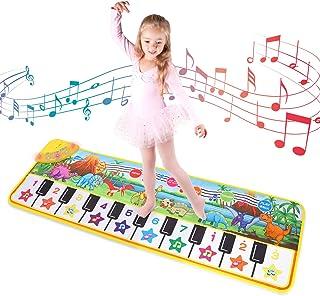 M SANMERSEN Music Piano Mat, Floor Piano Mat for Kids Keyboa