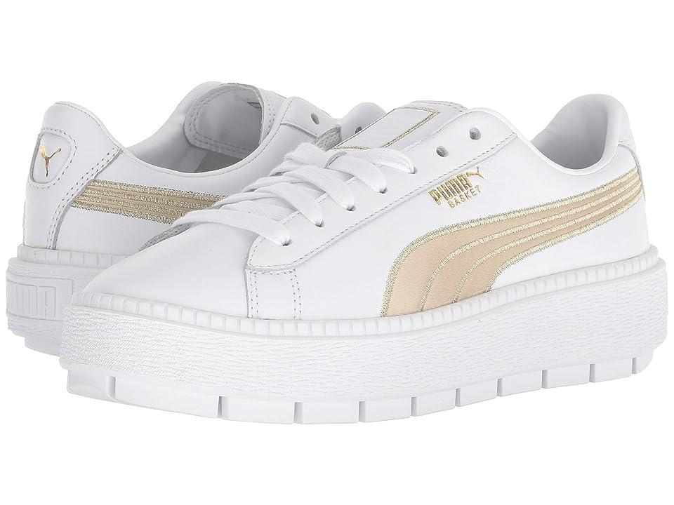 PUMA Platform Trace Varsity (Puma White/Metallic Gold) Women
