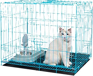 BURAQ Foldable Metal pet House crates for Dogs Puppies Kittens Rabbits Persian Cats with Removable Tray (2.5 FT ( 30 INCH...