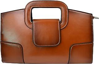 Mia Mini Vintage Flap Tote Top Handle Satchel Handbags PU Leather Clutch Purse for Women