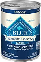 Blue Buffalo Homestyle Recipe Natural Senior Wet Dog Food, Chicken 12.5-oz can (Pack of 12)