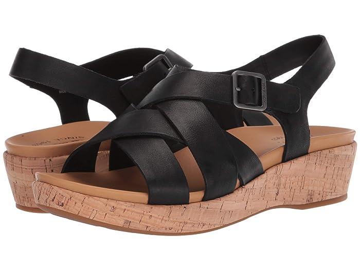 Vintage Sandals | Wedges, Espadrilles – 30s, 40s, 50s, 60s, 70s Kork-Ease Caroleigh Black Full Grain Leather Womens Shoes $82.32 AT vintagedancer.com