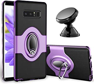 Samsung Galaxy Note 8 Case - eSamcore Ring Holder Kickstand Cases + Dashboard Magnetic Phone Car Mount [Purple]