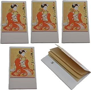 Japanese hand drum Maiko Japanese Premium Oil Blotting Paper 30 Sheets Pack of 5
