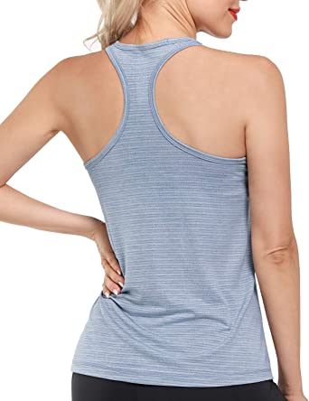 Promover Camisetas sin Mangas y Camisas Deportivas para Mujer Espalda Cruzada para Gimnasio Yoga Correr Fitness