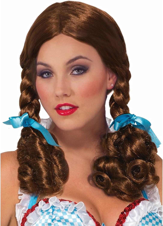 Forum Novelties Wig-Farm Girl, Brown, Standard
