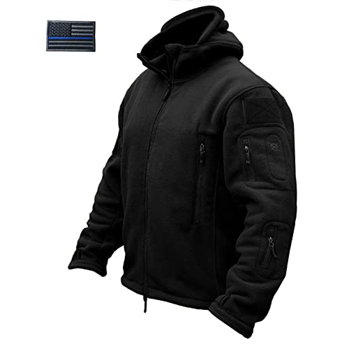 24859cf02af4 CRYSULLY Men s Military Tactical Combat Sport Warm Fleece Hooded Outdoor  Adventure Jacket Coats