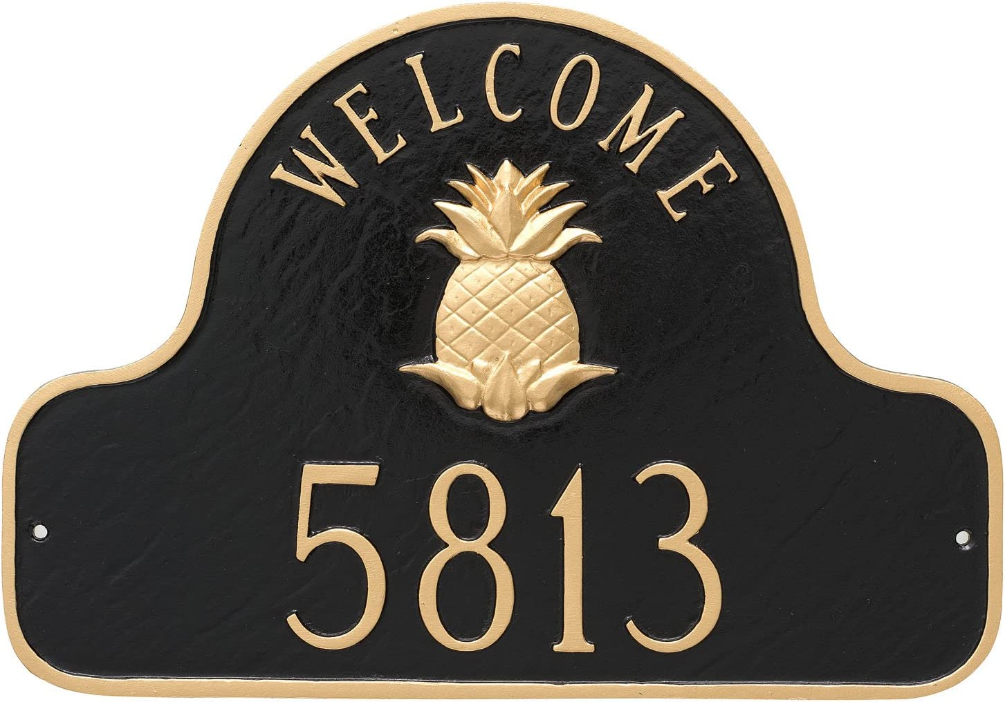 Montague Metal Pineapple Welcome Arch x Plaque おしゃれ Sign 付与 Address 11