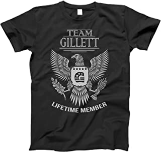 Team Gillett Lifetime Member Family Surname T-Shirt for Families with The Gillett Last Name