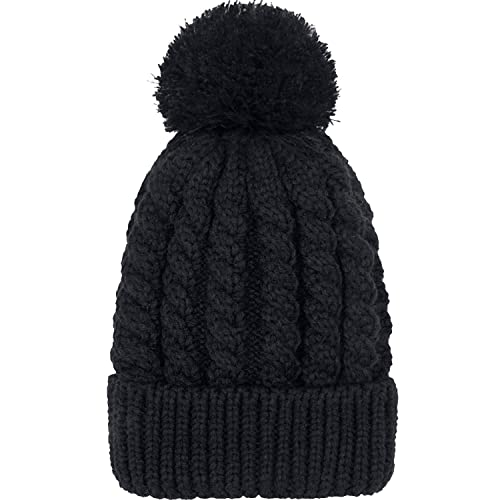 109199daae0 Women s Winter Beanie Warm Fleece Lining - Thick Slouchy Cable Knit Skull Hat  Ski Cap
