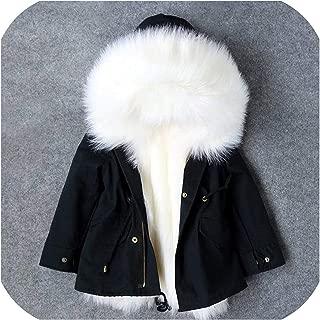 Surprise S Windbreaker Winter Autumn Kids Warm Fchildren Coat Hooded Baby Outwear Jackets,Black,4T