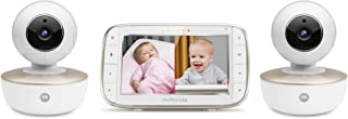"Motorola MBP855CONNECT-2 Portable 5"" Video Baby Monitor with Wi-Fi Viewing, 2 Rechargeable Cameras, Remote Pan, Tilt, Zoo..."